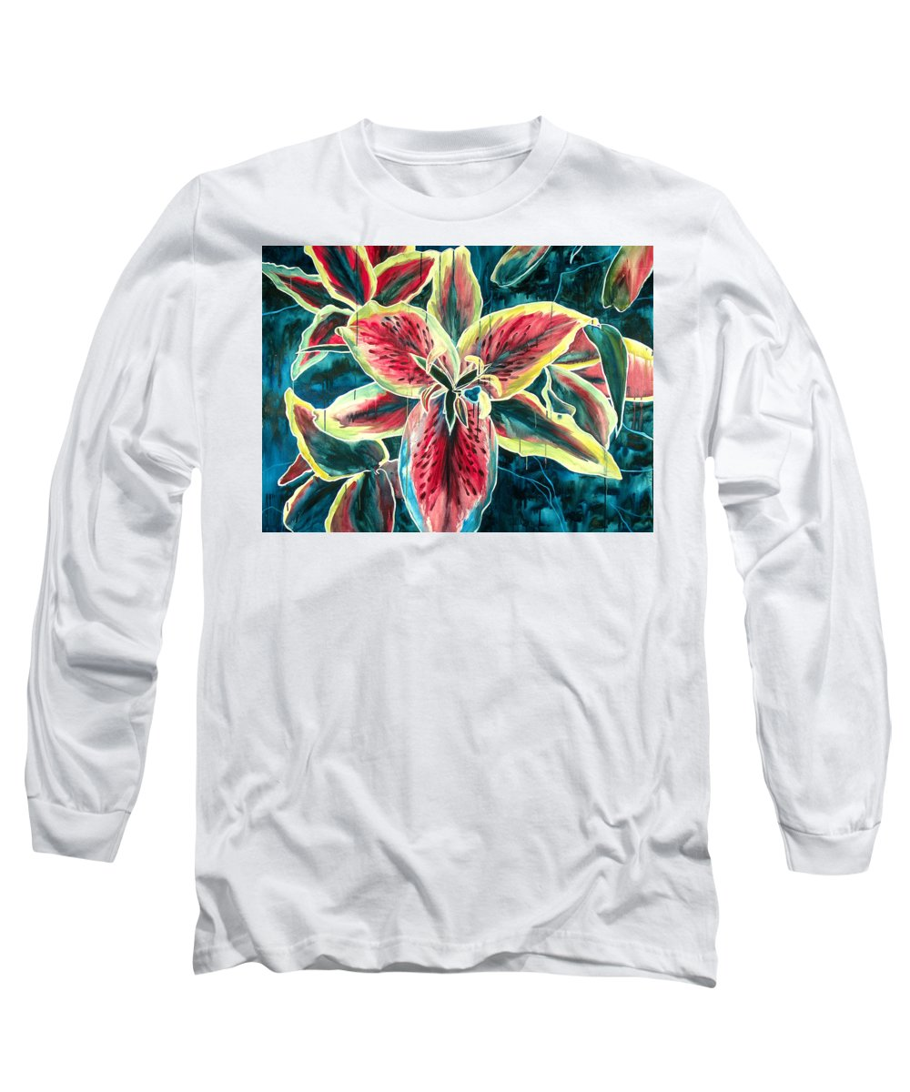 Floral Painting Long Sleeve T-Shirt featuring the painting A New Day by Jennifer McDuffie