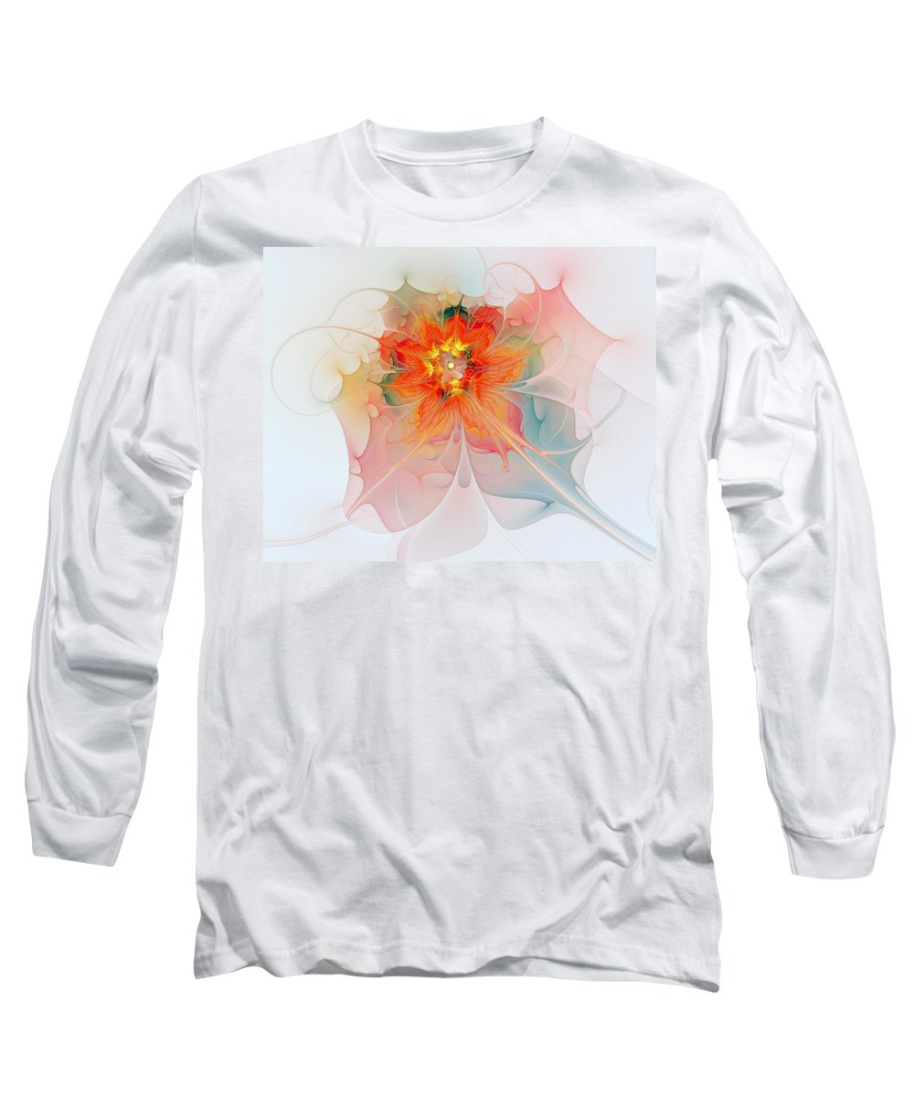 Digital Art Long Sleeve T-Shirt featuring the digital art A Touch Of Spring by Amanda Moore