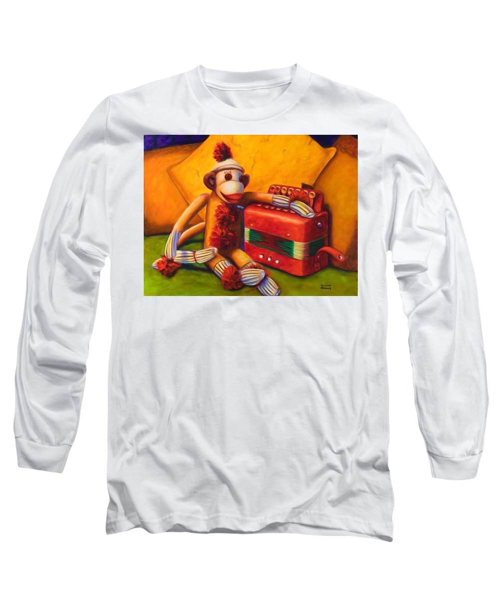 Children Long Sleeve T-Shirt featuring the painting Accordion by Shannon Grissom