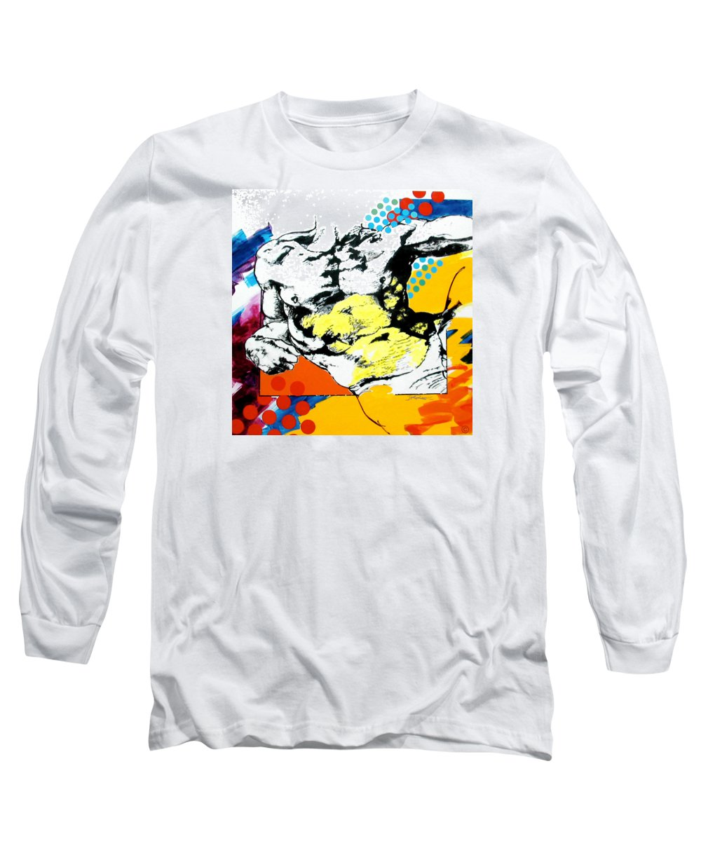Pop Long Sleeve T-Shirt featuring the painting Adam by Jean Pierre Rousselet