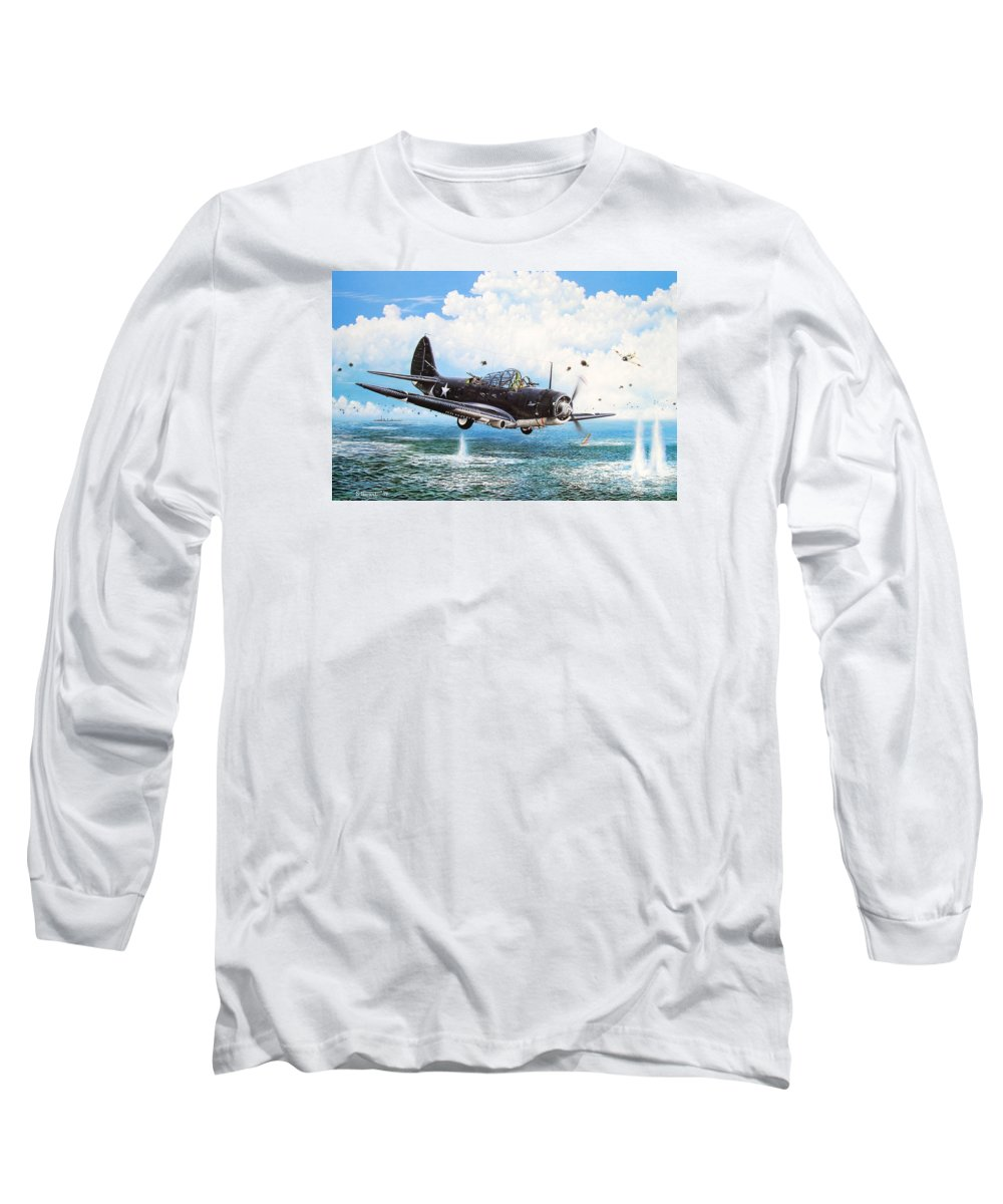 Military Long Sleeve T-Shirt featuring the painting Against The Odds by Marc Stewart