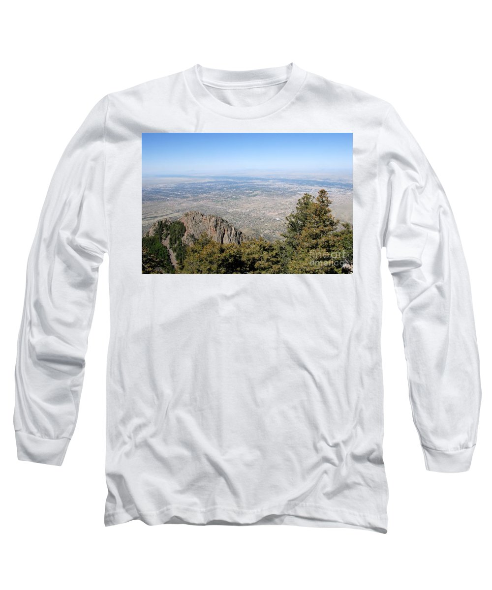 Albuquerque Long Sleeve T-Shirt featuring the photograph Albuquerque And The Rio Grande by David Lee Thompson