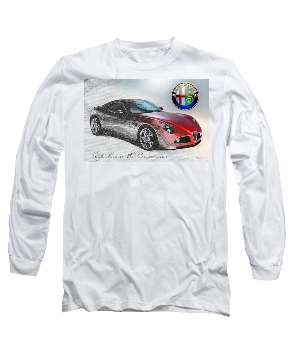Wheels Of Fortune By Serge Averbukh Long Sleeve T-Shirt featuring the photograph Alfa Romeo 8c Competizione by Serge Averbukh