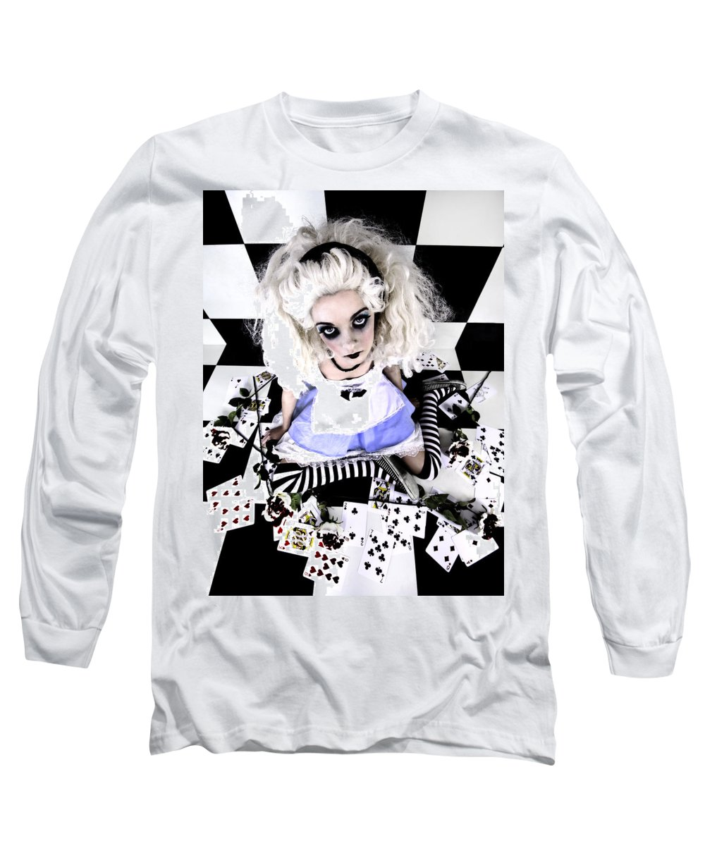 Alice In Wonderland Long Sleeve T-Shirt featuring the photograph Alice1 by Kelly Jade King