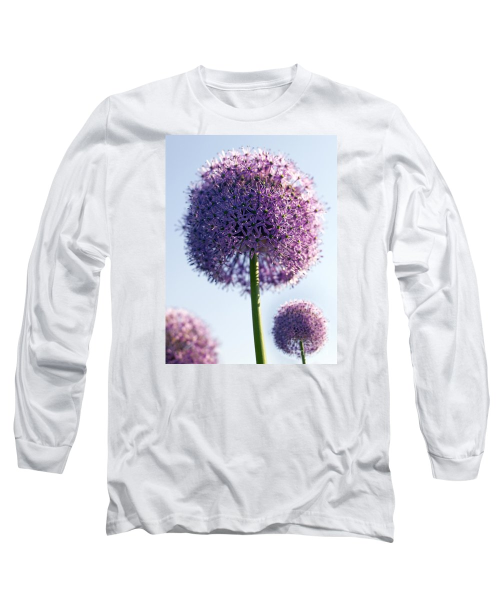 Allium Long Sleeve T-Shirt featuring the photograph Allium Flower by Tony Cordoza