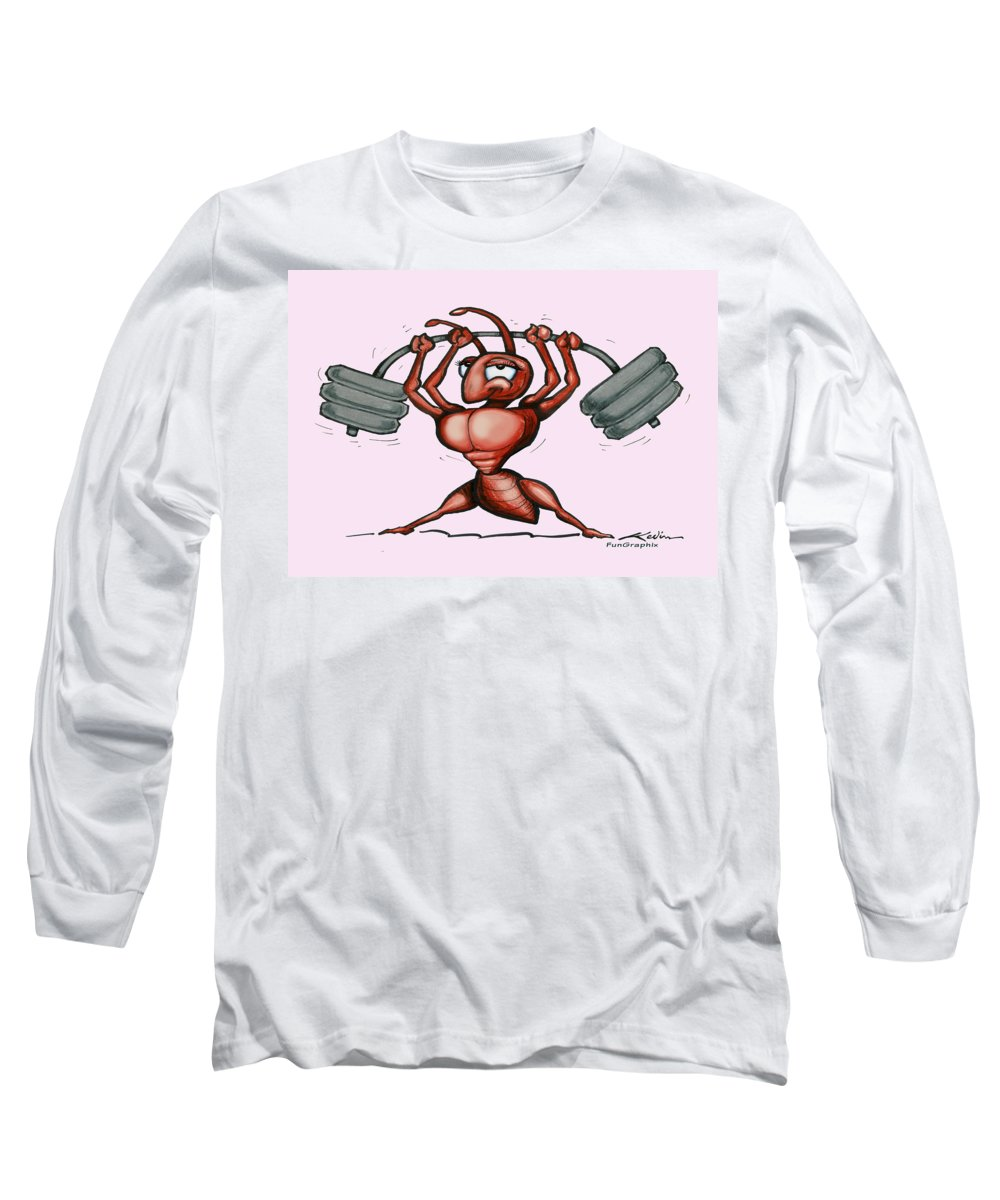 Ant Long Sleeve T-Shirt featuring the greeting card Ant by Kevin Middleton