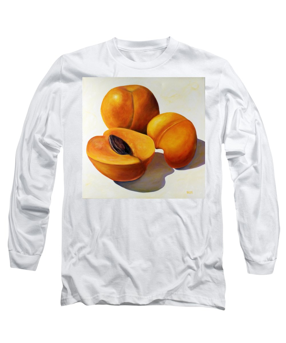 Apricots Long Sleeve T-Shirt featuring the painting Apricots by Shannon Grissom