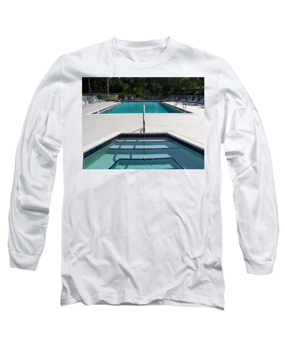 Pool Long Sleeve T-Shirt featuring the photograph Aqua by Laurie Paci