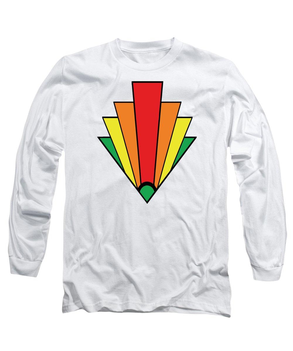 Art Deco Long Sleeve T-Shirt featuring the digital art Art Deco Chevron by Chuck Staley