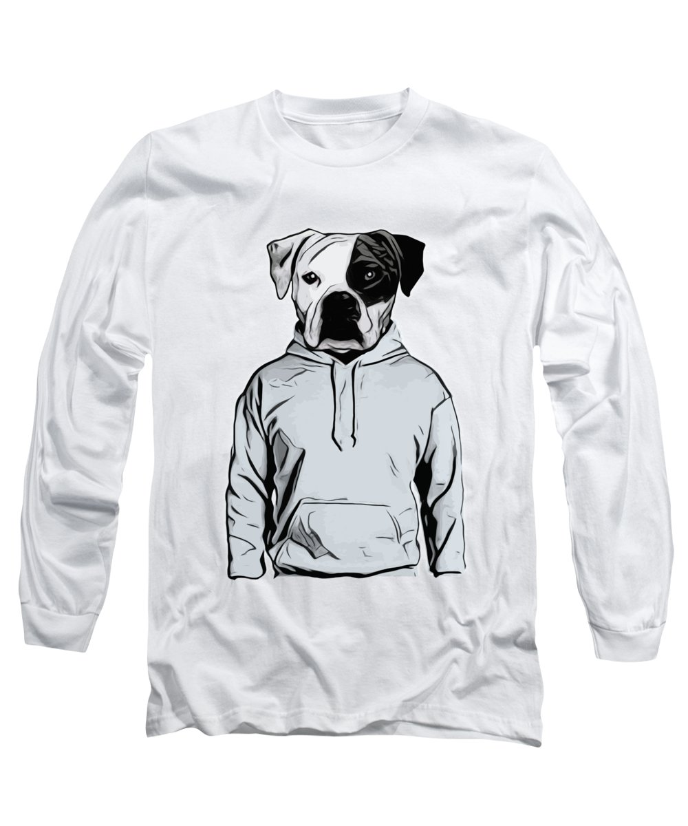 Dog Long Sleeve T-Shirt featuring the painting Cool Dog by Nicklas Gustafsson