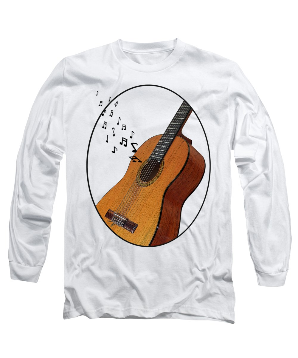 Acoustic Guitar Long Sleeve T-Shirt featuring the photograph Acoustic Guitar Sounds by Gill Billington