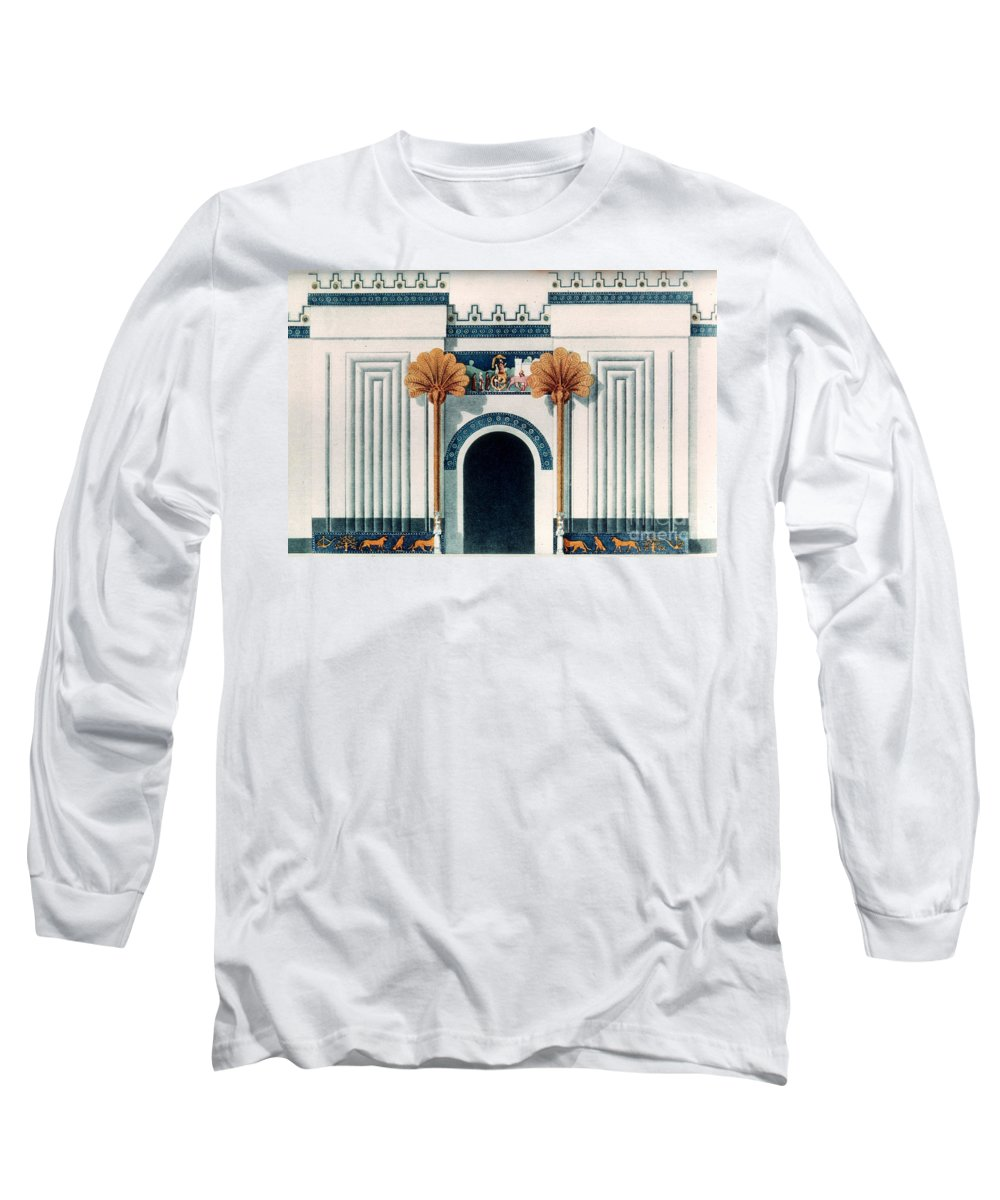 6th Century B.c. Long Sleeve T-Shirt featuring the photograph Assyrian Temple by Granger