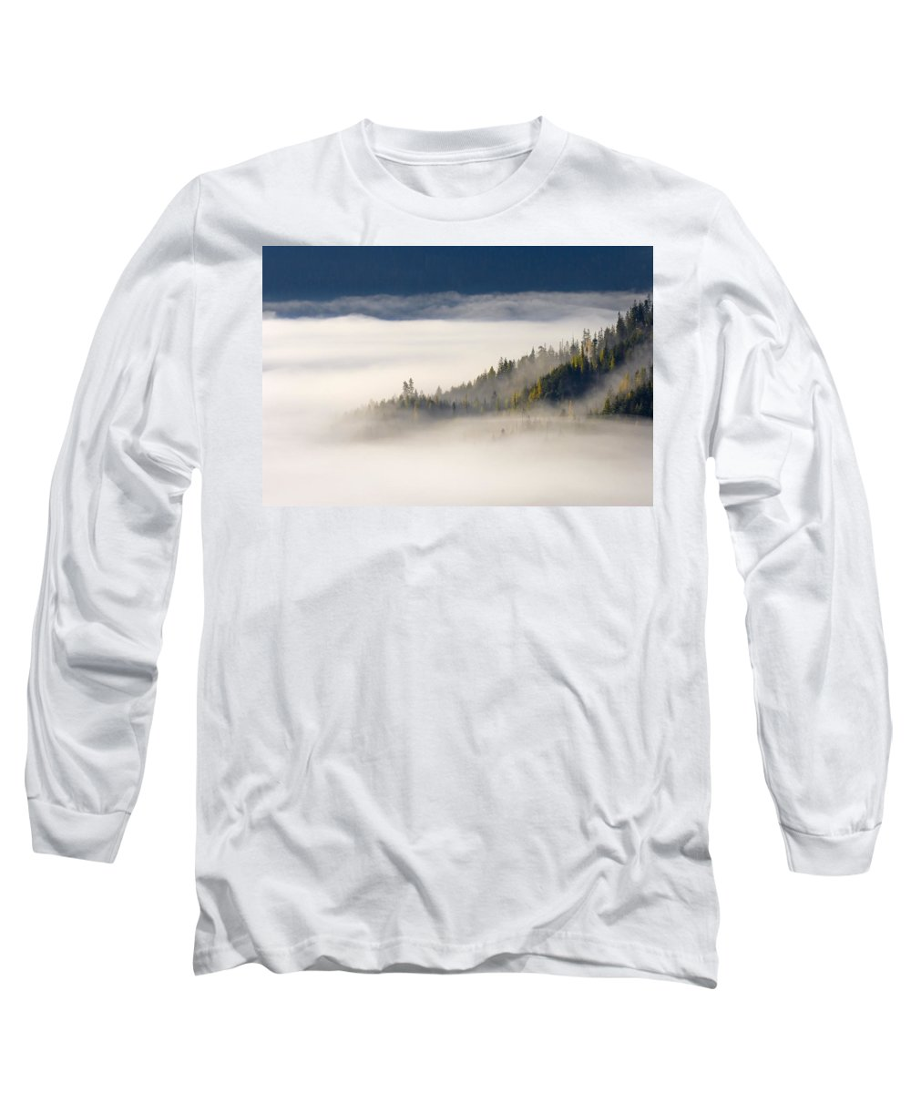 Fog Long Sleeve T-Shirt featuring the photograph Autumn Morn by Mike Dawson