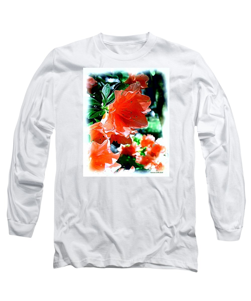 Fine Art Long Sleeve T-Shirt featuring the painting Azaleas In The Spring by Patricia Griffin Brett