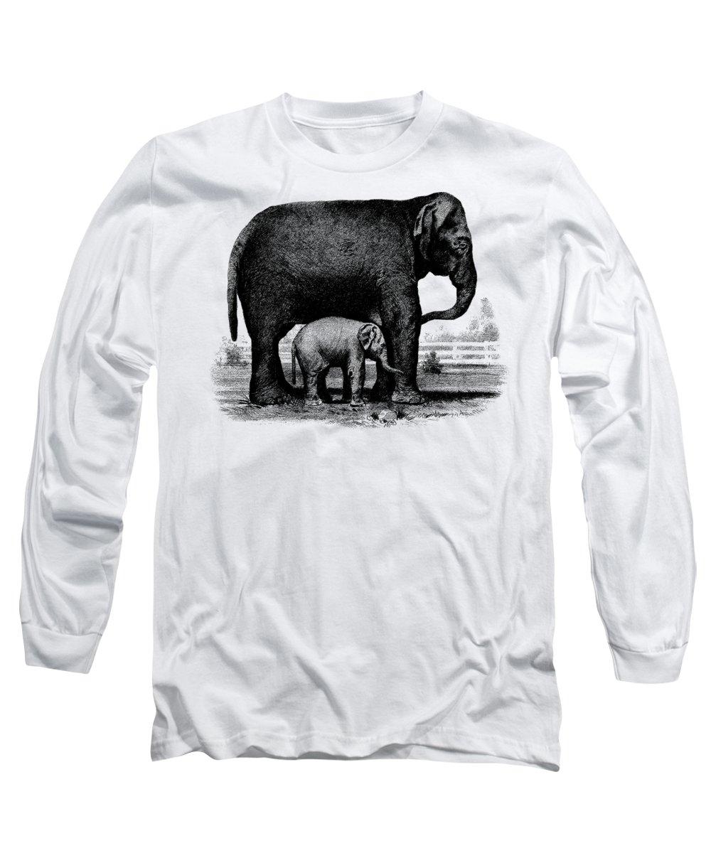 Etching Drawings Long Sleeve T-Shirts