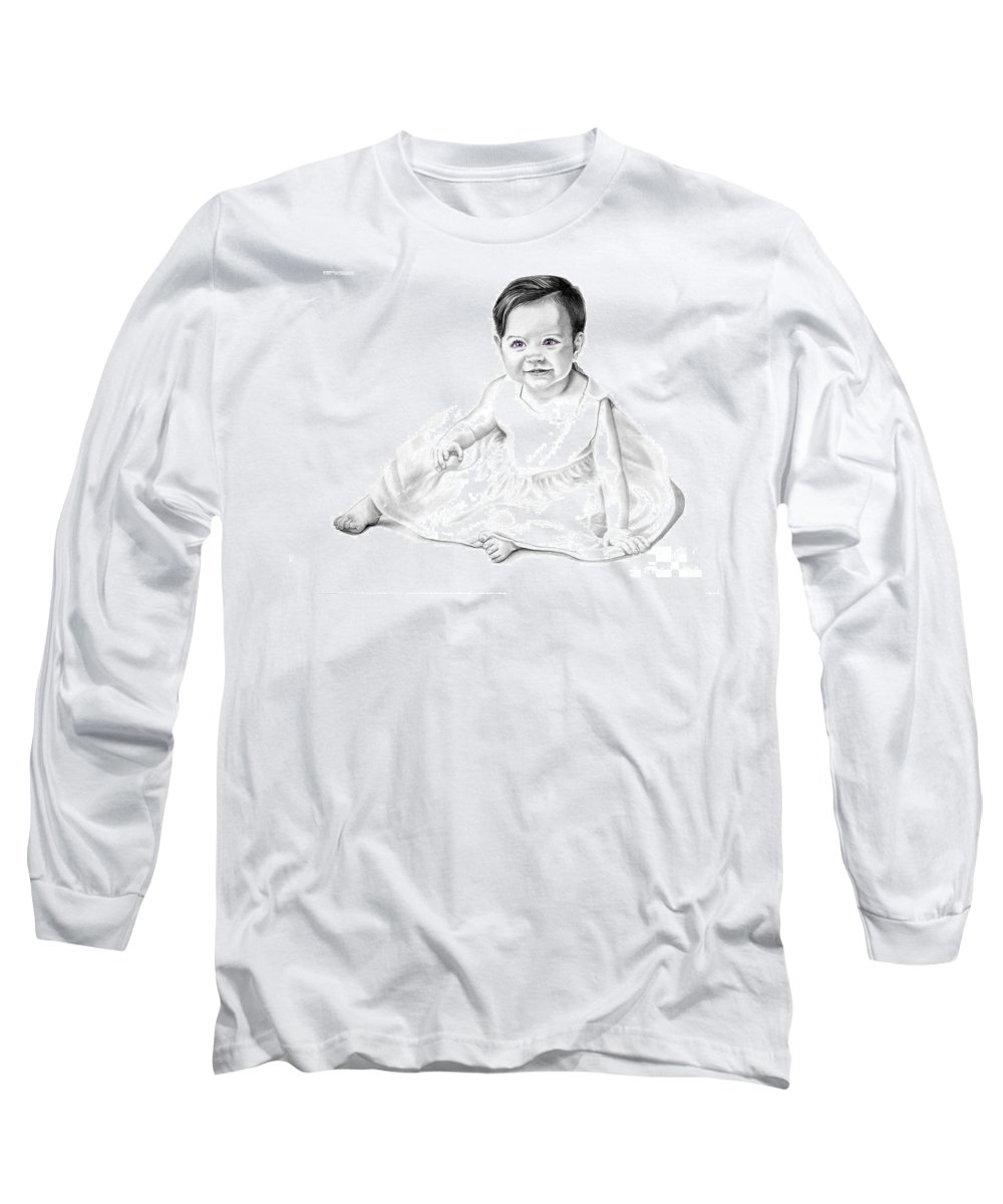 Baby Long Sleeve T-Shirt featuring the drawing Baby Jane by Murphy Elliott