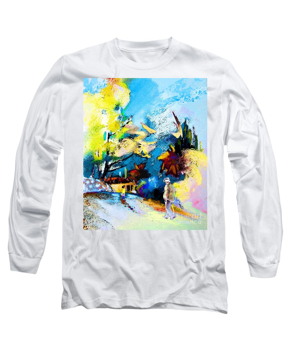 Pastel Painting Long Sleeve T-Shirt featuring the painting Back Home by Miki De Goodaboom