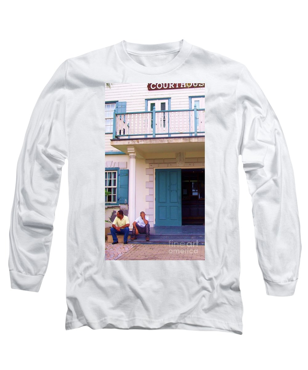 Building Long Sleeve T-Shirt featuring the photograph Bad Day In Court by Debbi Granruth