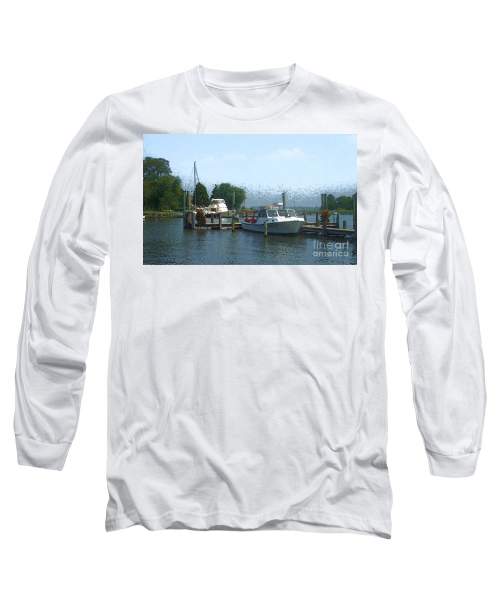 Boat Long Sleeve T-Shirt featuring the photograph Beached Buoys by Debbi Granruth