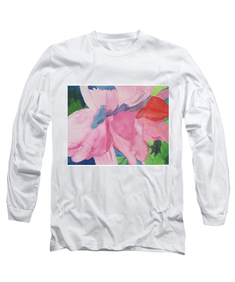Flower Long Sleeve T-Shirt featuring the painting Beautiful Azalea by Hal Newhouser