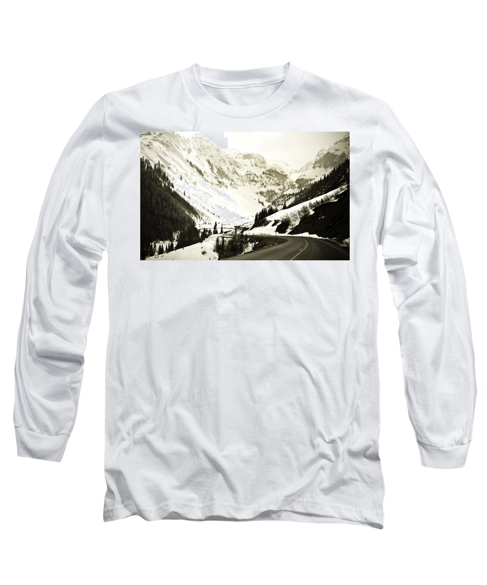 Mountains Long Sleeve T-Shirt featuring the photograph Beautiful Curving Drive Through The Mountains by Marilyn Hunt