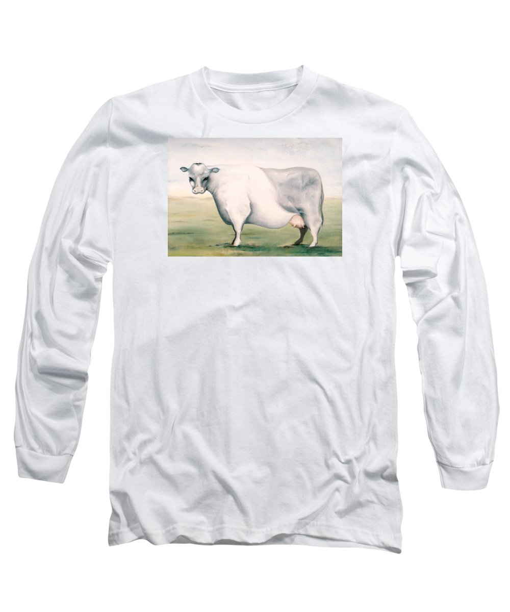 Beef Long Sleeve T-Shirt featuring the painting Beef Holocaust I by Mark Cawood
