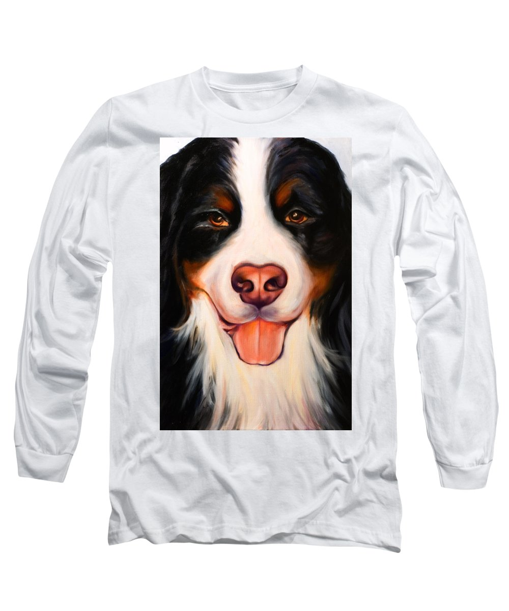 Dog Long Sleeve T-Shirt featuring the painting Big Willie by Shannon Grissom