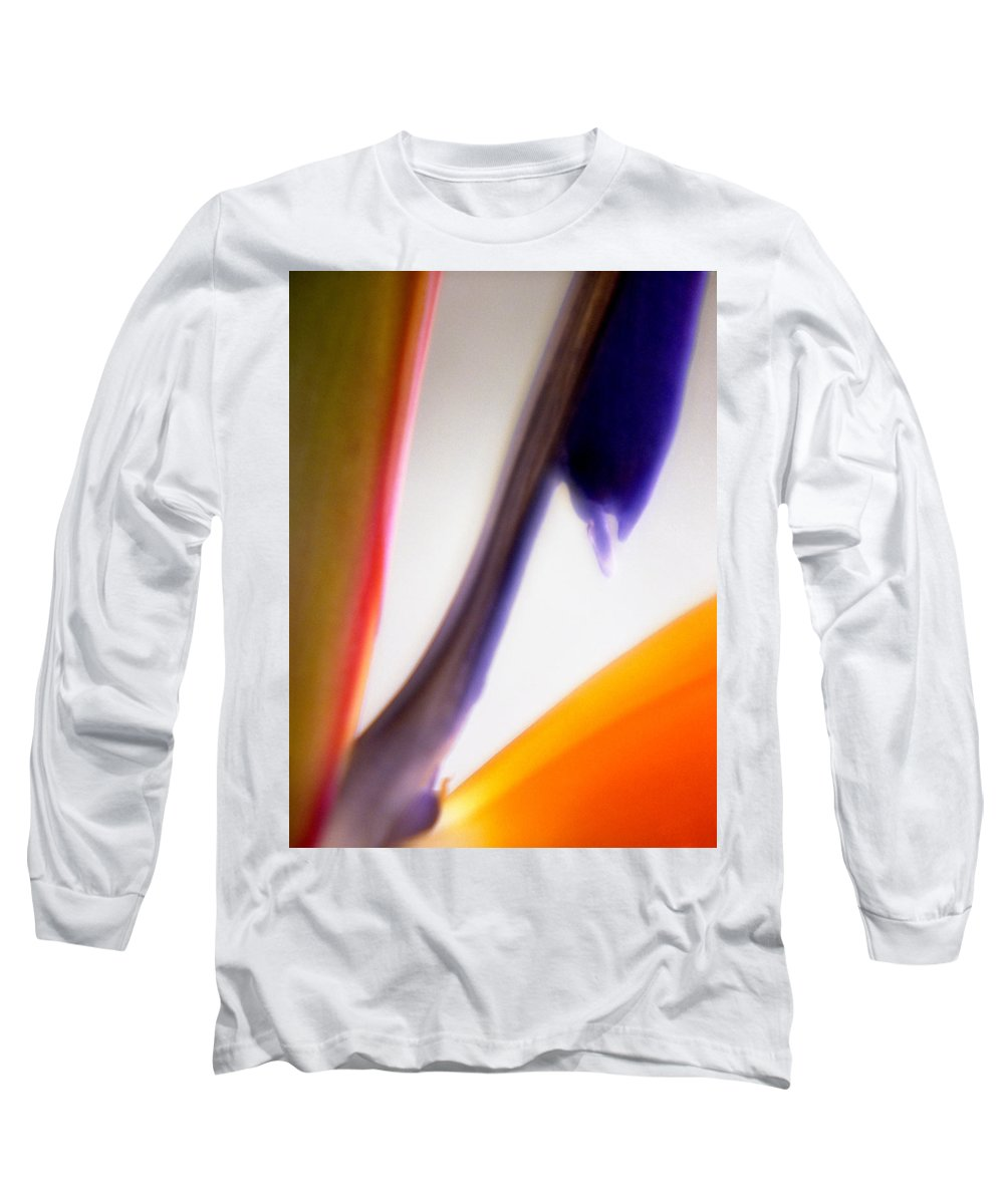 Macro Long Sleeve T-Shirt featuring the photograph Bird Of Paradise by Lee Santa
