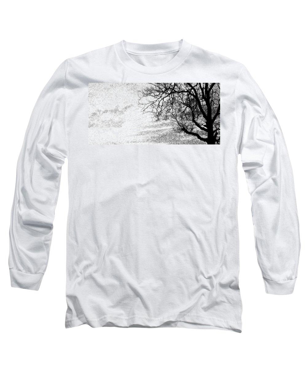 Sky Long Sleeve T-Shirt featuring the photograph Black Rain by Ed Smith
