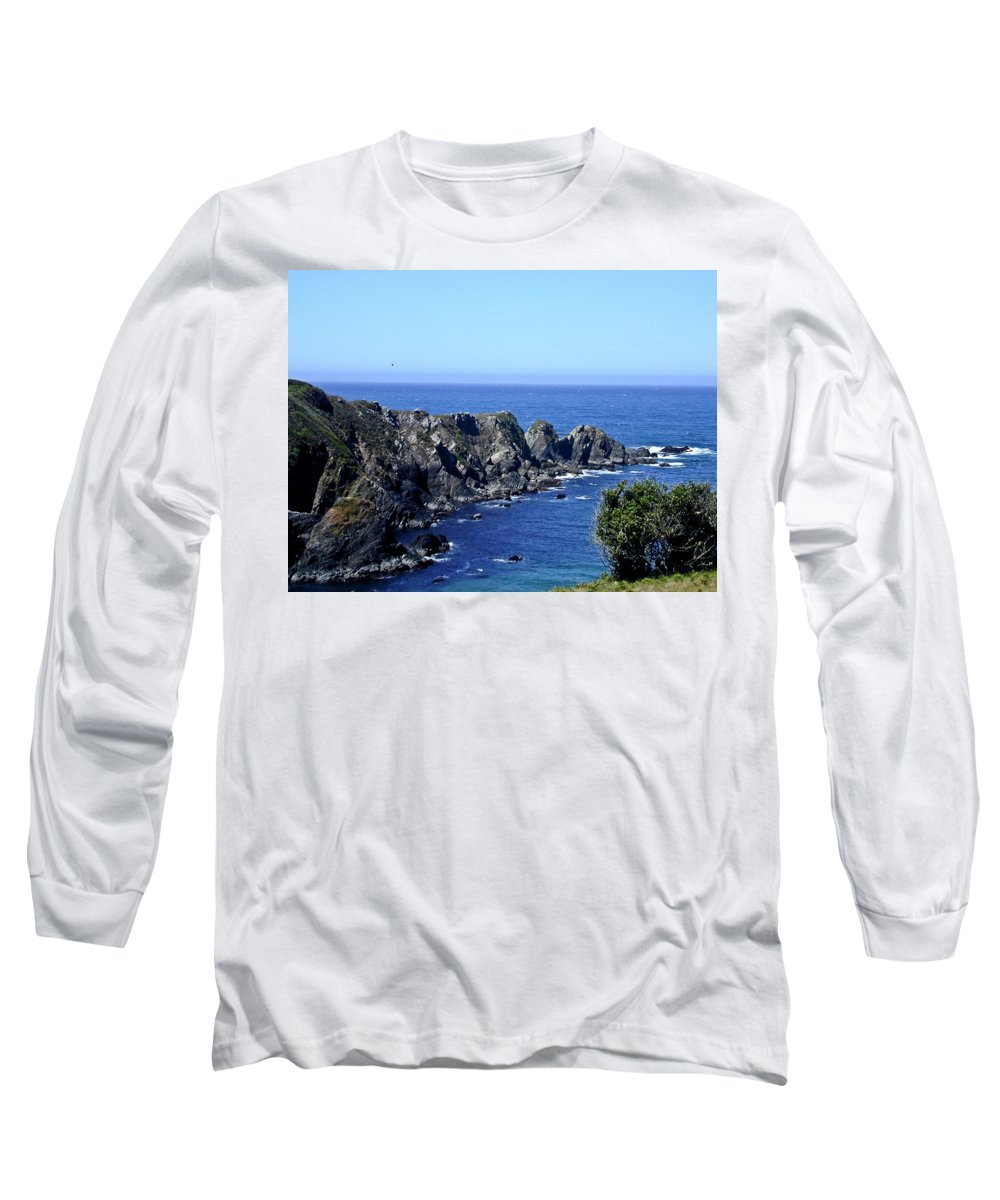 Blue Long Sleeve T-Shirt featuring the photograph Blue Pacific by Douglas Barnett