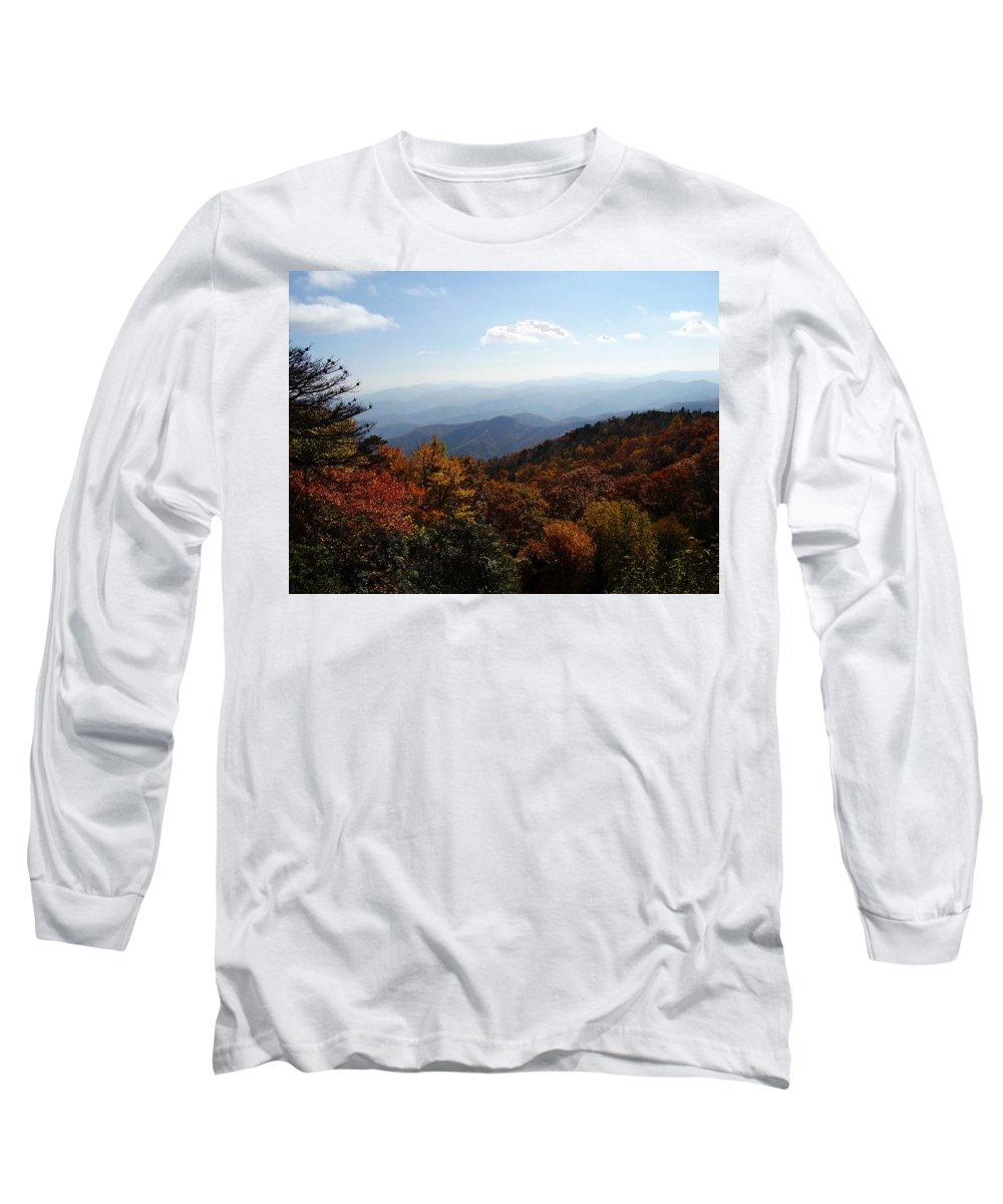 Blue Ridge Mountains Long Sleeve T-Shirt featuring the photograph Blue Ridge Mountains by Flavia Westerwelle