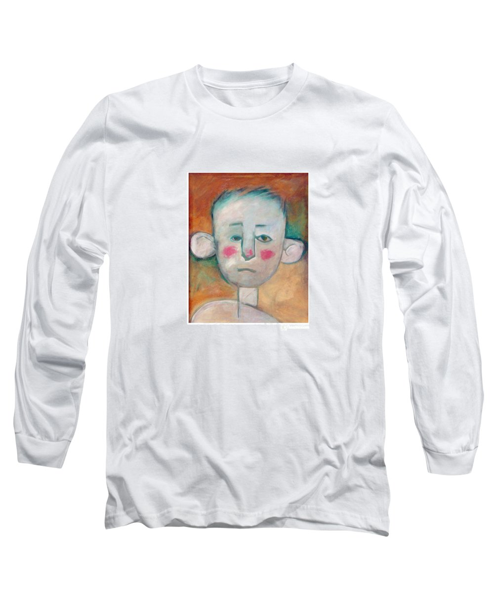 Boy Long Sleeve T-Shirt featuring the painting Boy by Tim Nyberg