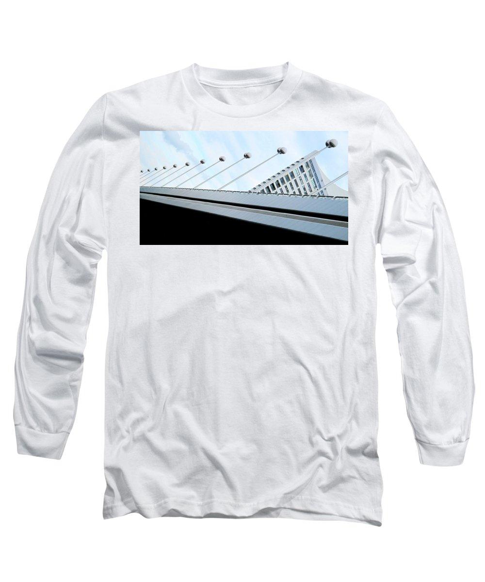 Vienna Long Sleeve T-Shirt featuring the photograph Bridge Over The Danube by Ian MacDonald