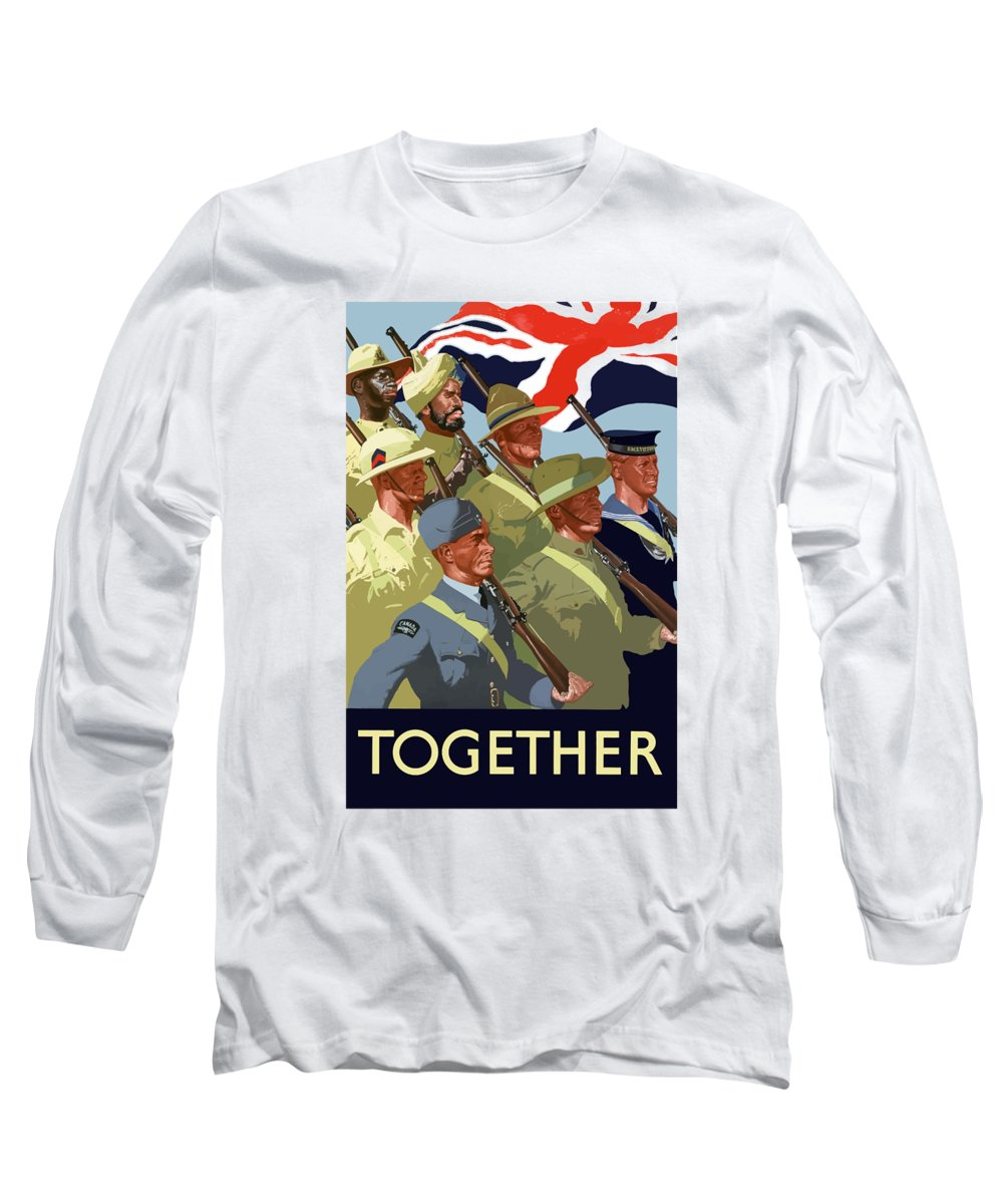 Union Flag Long Sleeve T-Shirt featuring the painting British Empire Soldiers Together by War Is Hell Store