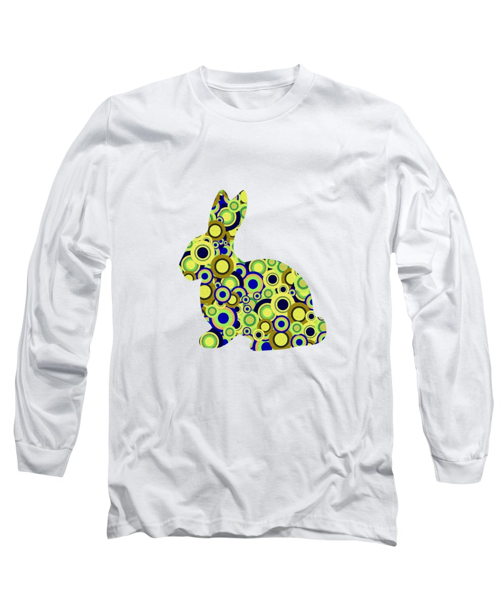 Malakhova Long Sleeve T-Shirt featuring the digital art Bunny - Animal Art by Anastasiya Malakhova