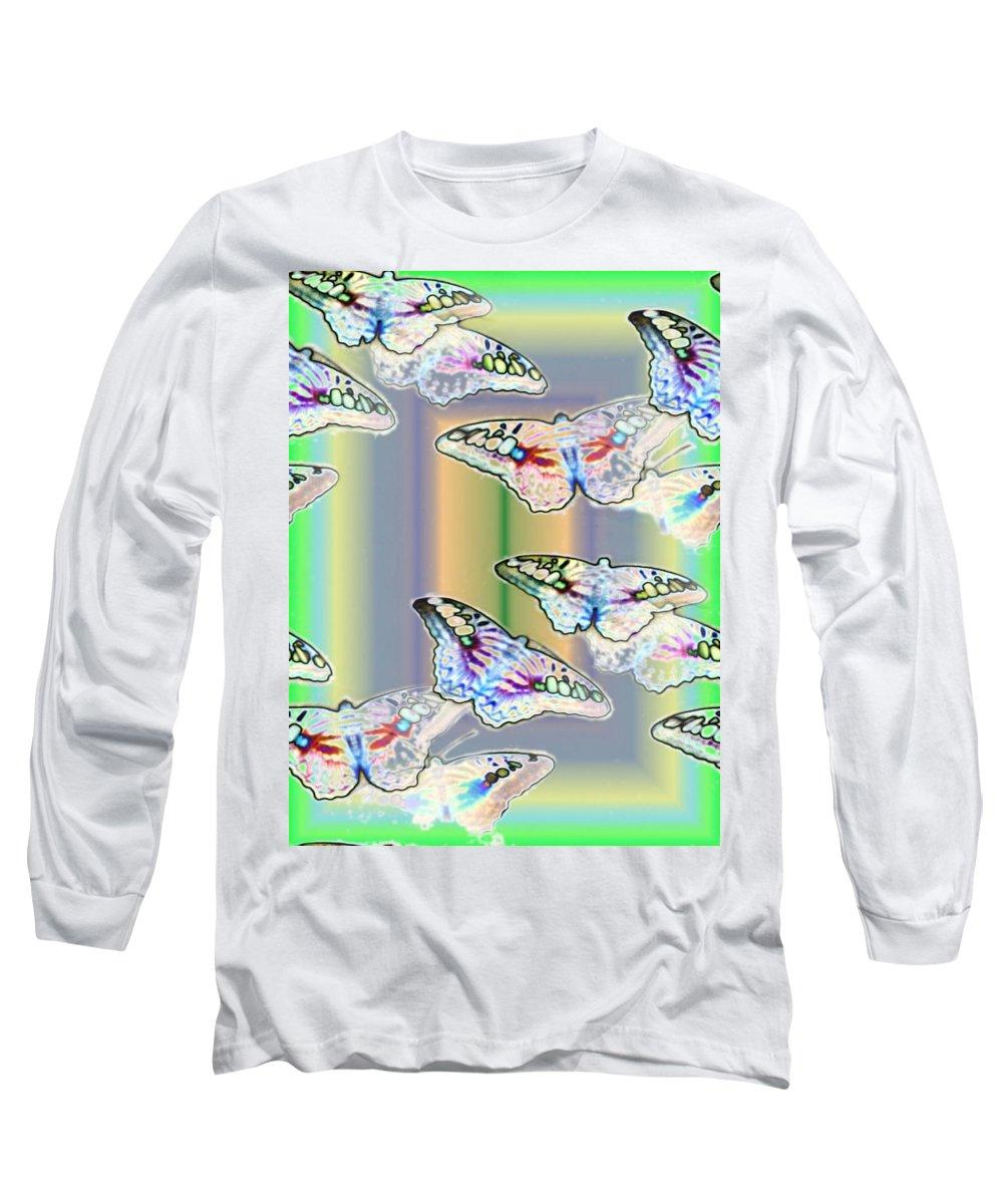 Butterflies Long Sleeve T-Shirt featuring the photograph Butterflies In The Vortex by Tim Allen