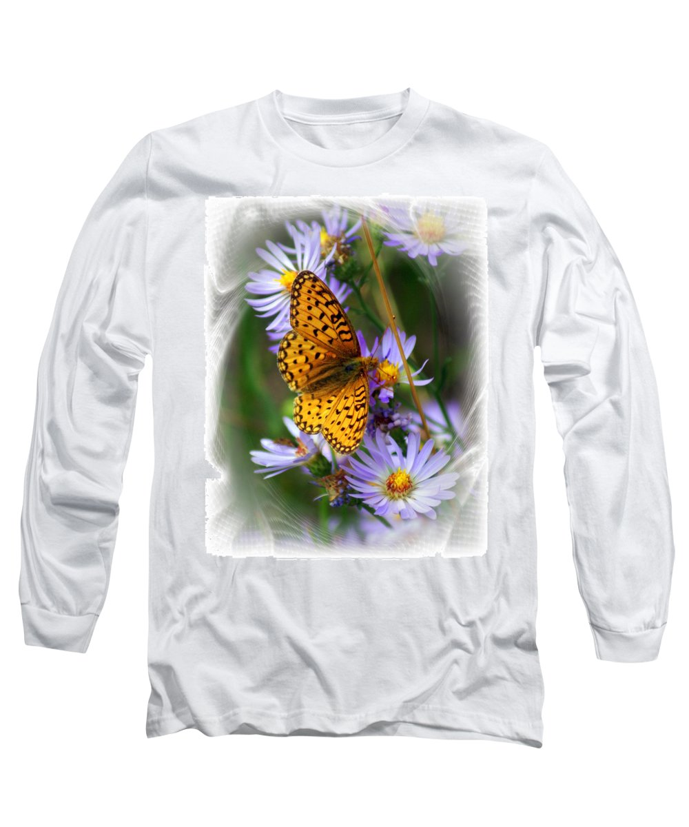 Butterfly Long Sleeve T-Shirt featuring the photograph Butterfly Bliss by Marty Koch