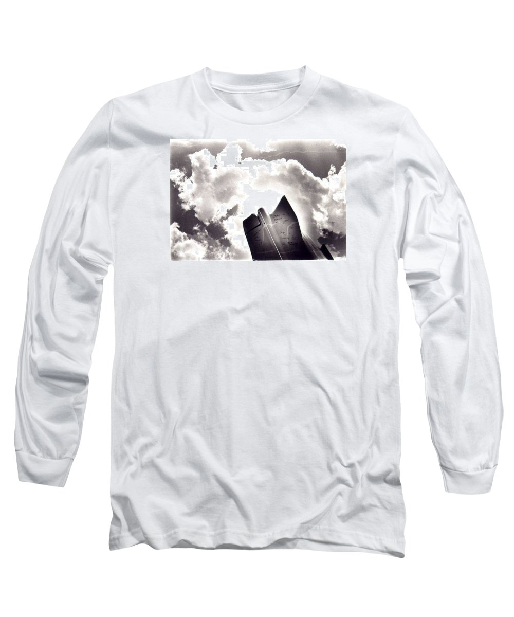 Cadillac Tailfin Long Sleeve T-Shirt featuring the photograph Cadillac by Ted M Tubbs
