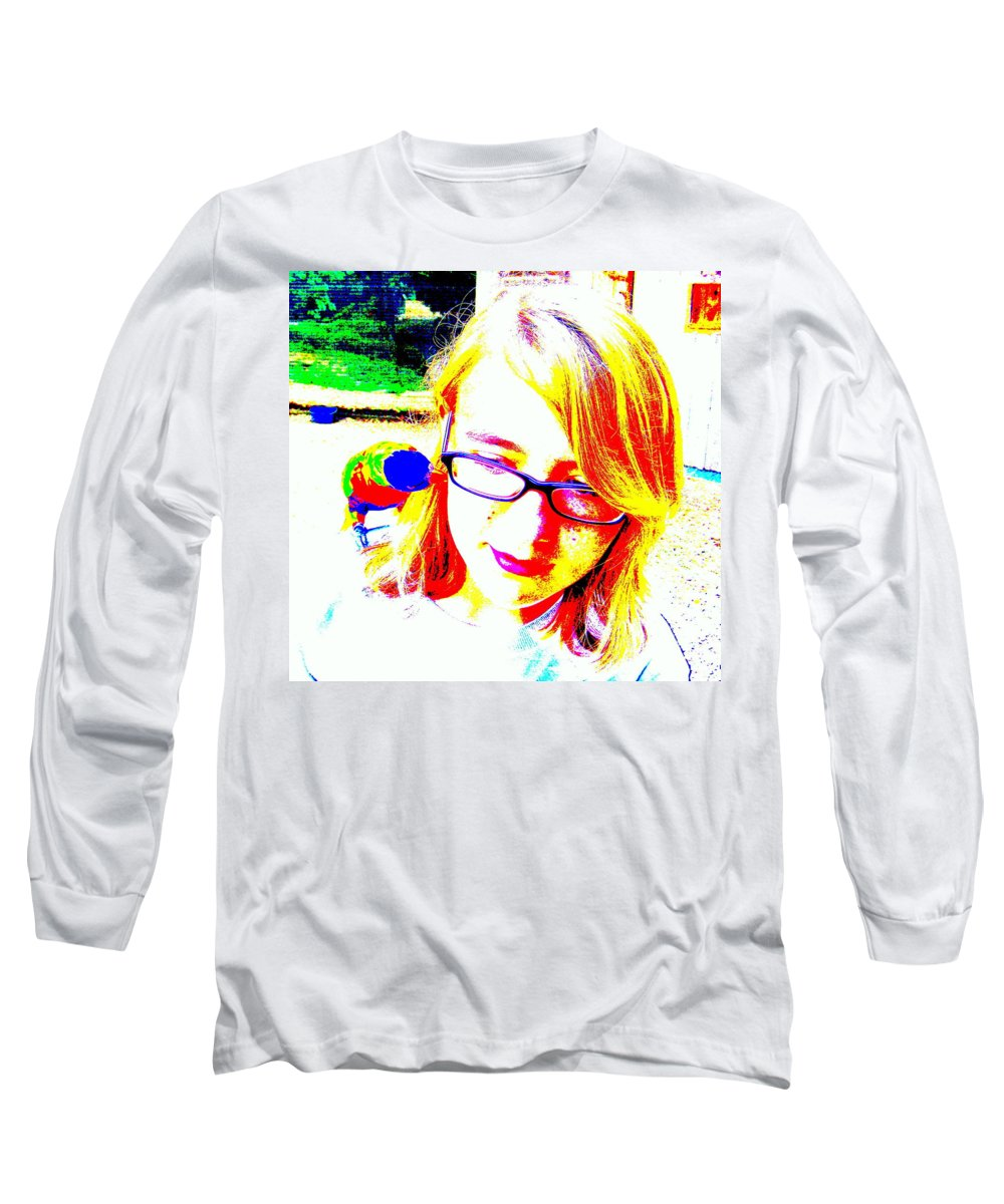 Bird Long Sleeve T-Shirt featuring the photograph Can You Hear Me Now by Ed Smith