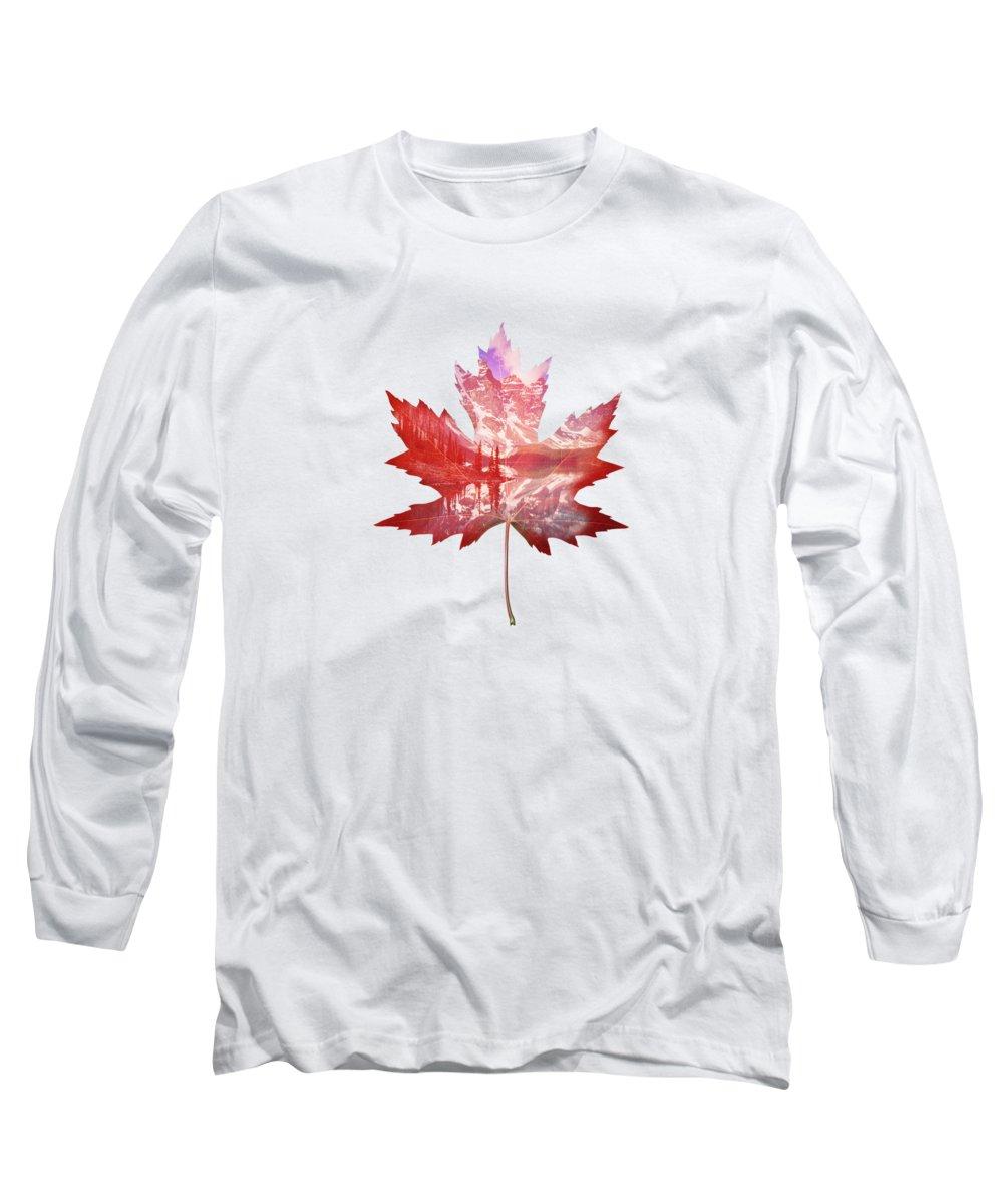 Maple Leaf Art Long Sleeve T-Shirts