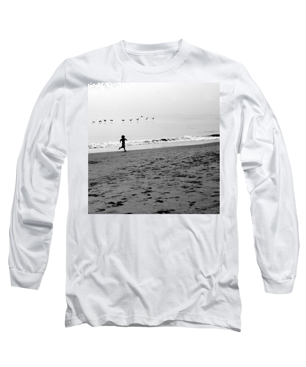 Photograph Long Sleeve T-Shirt featuring the photograph Carefree by Jean Macaluso