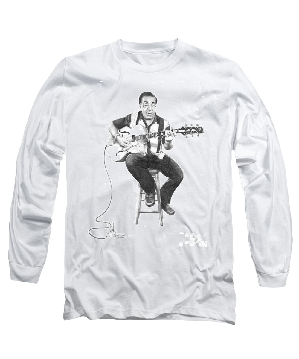 Drawing Long Sleeve T-Shirt featuring the drawing Carmine D'amico by Murphy Elliott