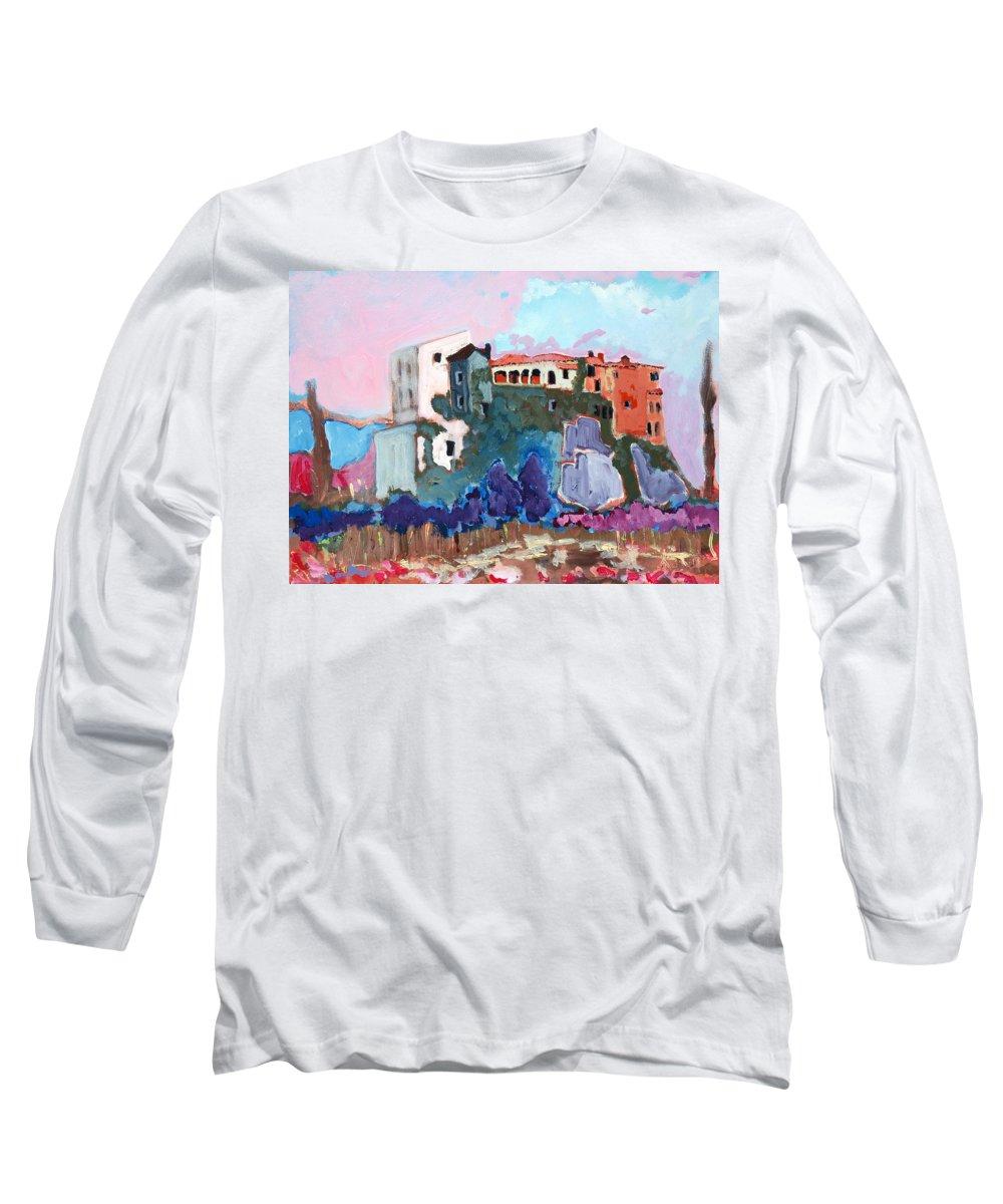 Castle Long Sleeve T-Shirt featuring the painting Castello by Kurt Hausmann