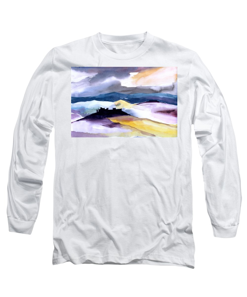 Water Long Sleeve T-Shirt featuring the painting Castle by Anil Nene