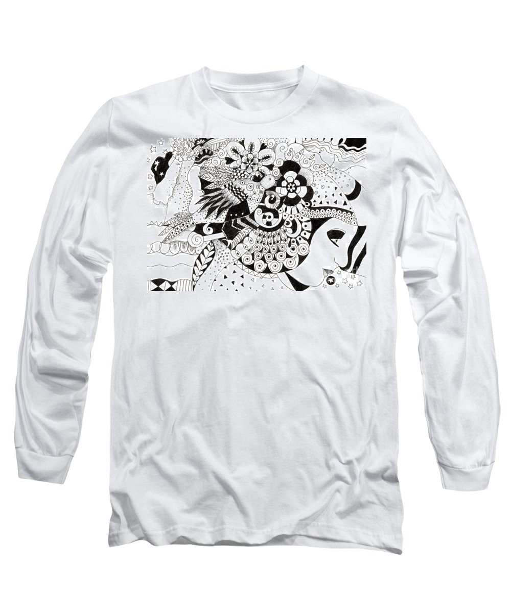 Organic Abstraction Drawings Long Sleeve T-Shirts