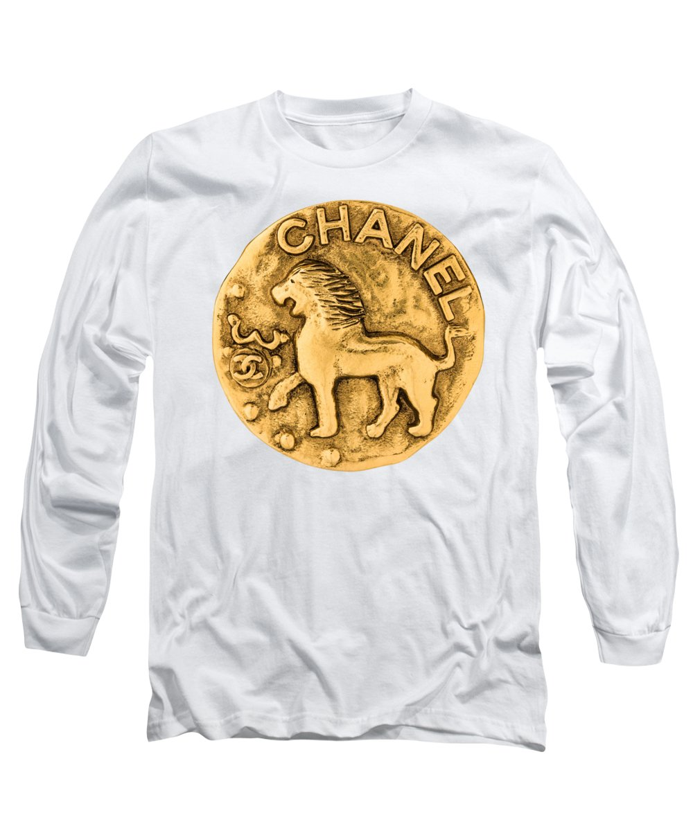Chanel Long Sleeve T-Shirt featuring the painting Chanel Jewelry-1 by Nikita