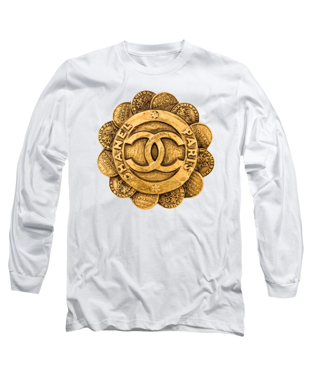 Chanel Long Sleeve T-Shirt featuring the painting Chanel Jewelry-2 by Nikita