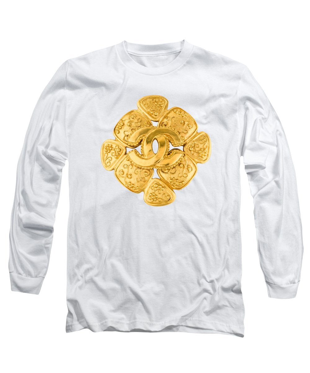 Chanel Long Sleeve T-Shirt featuring the painting Chanel Jewelry-5 by Nikita