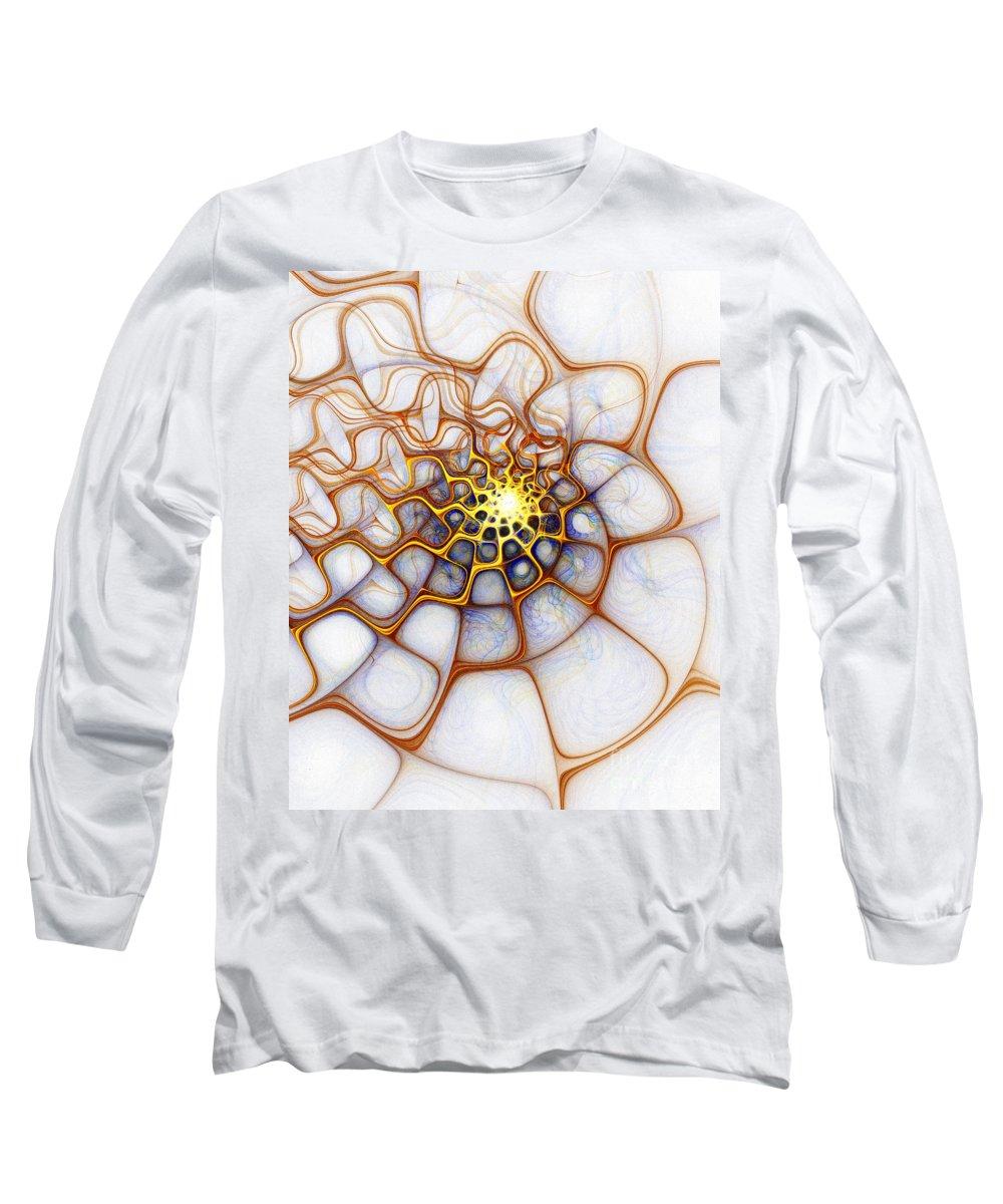 Digital Art Long Sleeve T-Shirt featuring the digital art Charlotte's Web by Amanda Moore