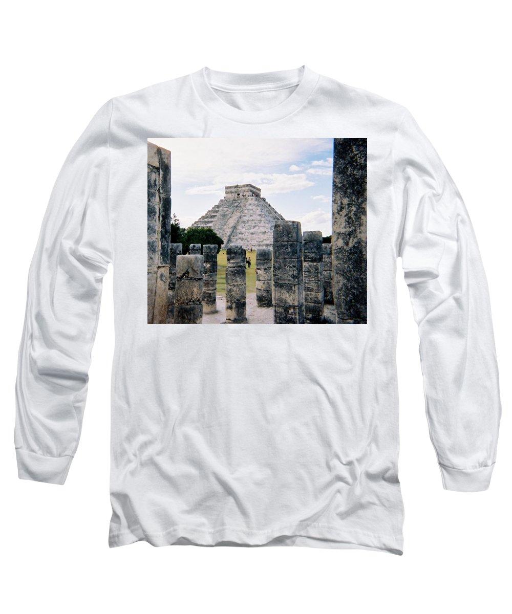 Chitchen Itza Long Sleeve T-Shirt featuring the photograph Chichen Itza 3 by Anita Burgermeister